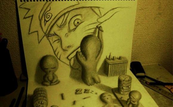 ภาพวาด 3 มิติ เสมือนจริงจนต้องทึ่ง !!