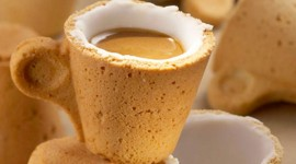 อร่อยลงตัวด้วยถ้วยกาแฟกินได้