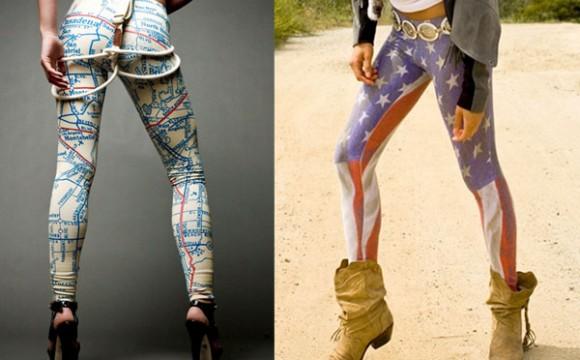 แฟชั่น Leggings สุดแปลกแบบสร้างสรรค์
