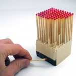 Wooden Matches Block