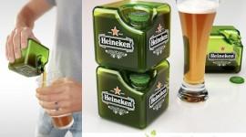 Heineken ขวดสี่เหลี่ยมทรงใหม่แบบ Cube Cube