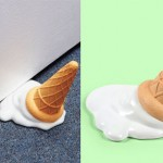 Melting Ice Cream Cone Door Stopper