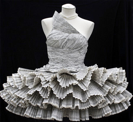 Phonebook Paper Dress