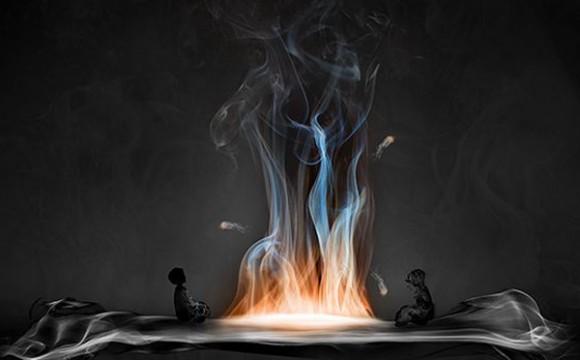 ศิลปะจากควันซ่อนรูป Smoke Art