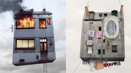 ภาพบ้านบนฟ้าจากแรงบันดาลใจสุดแปลก