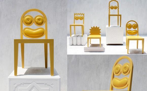 Simpsons เก้าอี้การ์ตูนน่ารักๆ มาทั้งครอบครัว