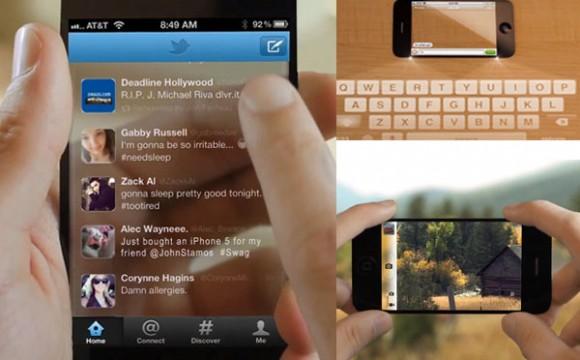 iPhone 5 มือถือโปร่งแสงแนวคิดใหม่