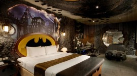 โรงแรม Batman ห้องพักบรรยากาศฮีโร่
