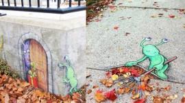 ศิลปะสีชอล์กน่ารักๆ แนว Street Art