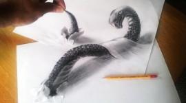 ภาพวาด 3 มิติด้วยดินสอสวยสมจริง