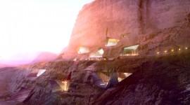 โรงแรมในเทือกเขา Wadi Rum ประเทศจอร์แดน