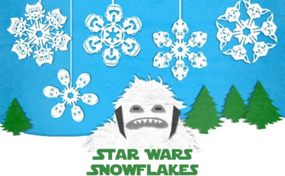 DIY หิมะกระดาษสไตล์ Star Wars สุดเท่ห์