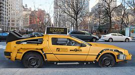 แท็กซี่ Delorean จากโฆษณาแฟชั่น Nooka