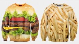 เสื้อกันหนาวลายอาหารอบอุ่นชวนหิว