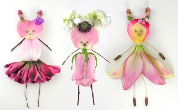 ตุ๊กตาดอกไม้ งานฝีมือแบบง่ายแสนน่ารัก