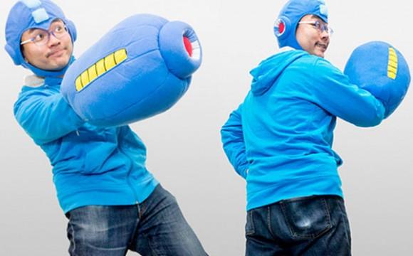 หมอนแขน Mega Man กับหมวกสุดเท่ห์