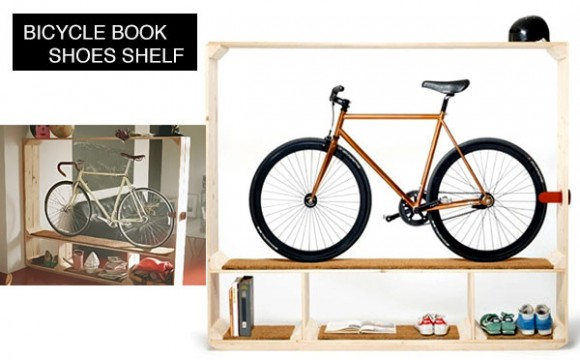 ตู้โชว์จักรยาน หนังสือ รองเท้า