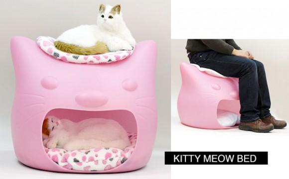 ที่นอนแมว สไตล์หัวแมวยักษ์