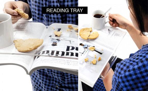ที่รองอ่าน แบบถาดอาหารใส
