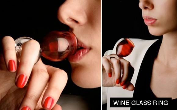 แหวนแก้วไวน์ พกพาไปได้ทุกที่