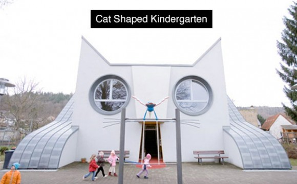 โรงเรียนอนุบาลรูปแมวเหมียวยักษ์