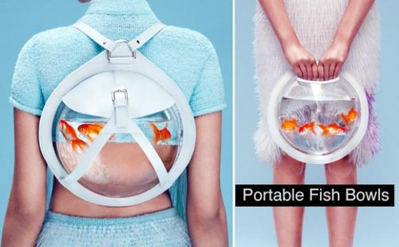 กระเป๋าใส่ปลา หรือตู้ปลาพกพาแฟชั่น