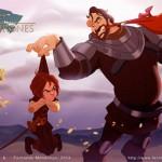 Arya Stark and The Hound