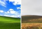 ภาพ Wallpaper ใน Windows XP ในสถานที่จริงกลายเป็นแบบนี้แล้ว
