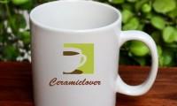 แก้วเซรามิคสกรีนโลโก้ หาซื้อได้ที่นี่แก้วเซรามิคลำปาง www.ceramiclover.com
